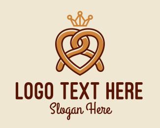 Bakery - Delicious Pretzel Crown  logo design