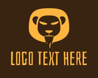 Mountain Lion - Yellow Safari Lion logo design