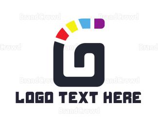 Whirl - Colorful G Stroke logo design