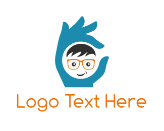 Geek - Perfect Geek Hand logo design