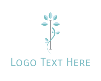 Letter I - Floral Letter I logo design