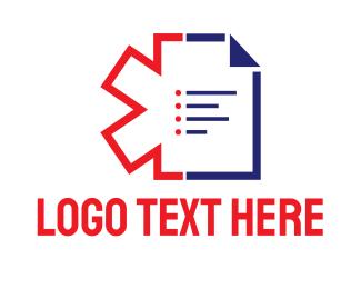 Physician - Blue Prescription logo design