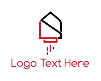 Astral - Rocket House logo design
