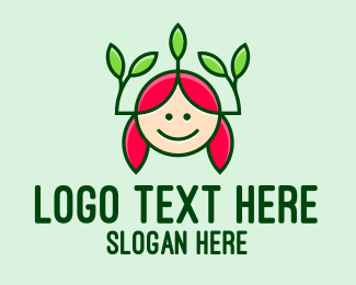 Pure - Kid Organic Salon logo design