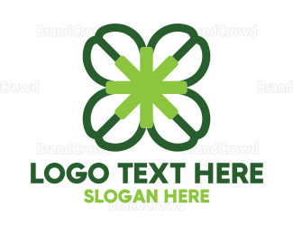 Irish - Four Leaf Clover logo design