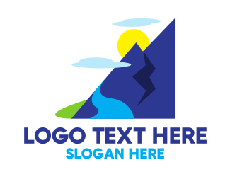 Cool - Cool Mountain Valley logo design