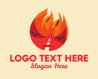 Summer Holiday - Flame Road Character logo design