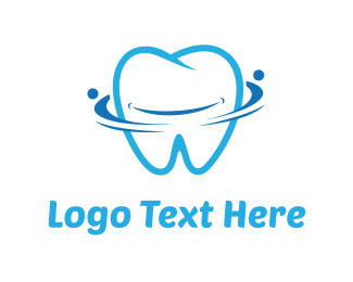 Smiling - Blue Tooth logo design