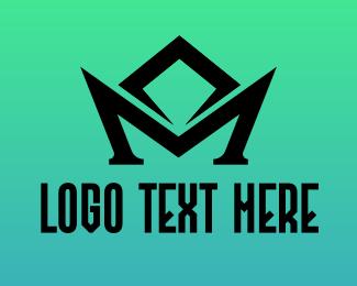 Claw - Black M Symbol logo design