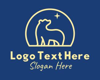 Wild Bear - Bright Star Bear  logo design