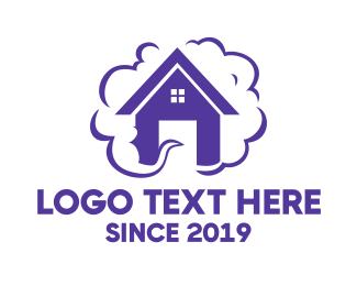 Activity - Purple House Smoke logo design
