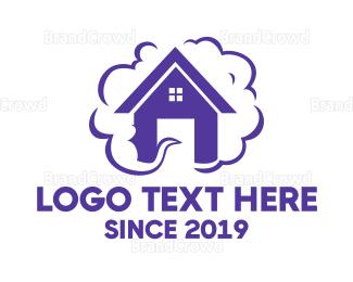 Activity - Purple House Smoke logo design