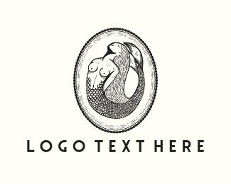 Mermaid - Mermaid Emblem logo design