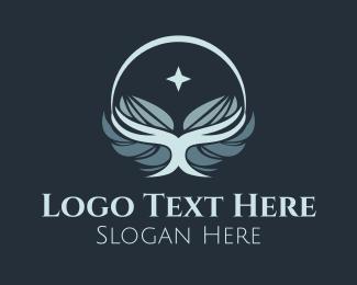 Palm Reading - Star Glowing Wings logo design
