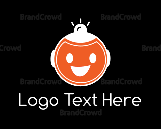 Joy - Happy Robot logo design