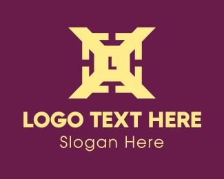 Letter - Yellow Arrow Letter X logo design