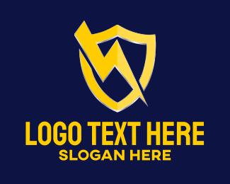 Lightning Bolt - Bolt Shield Protection logo design
