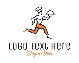 Waiter - Gourmet Delivery logo design