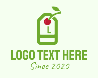 Price Tag - Cherry Price Tag Lettermark logo design