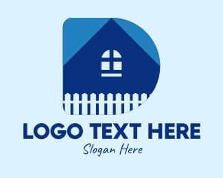 Fence - House Letter D  logo design