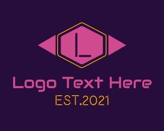 Girl - Girl Gamer Letter logo design