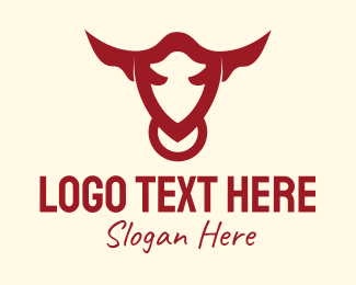 Abattoir - Bull Animal logo design