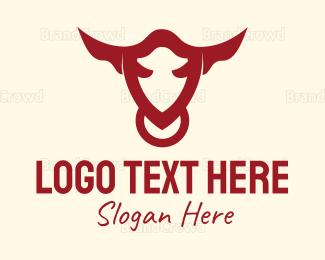 Abattoir - Security Bull logo design