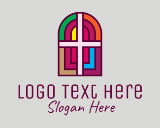 Interior Decor - Religious Church Cross logo design