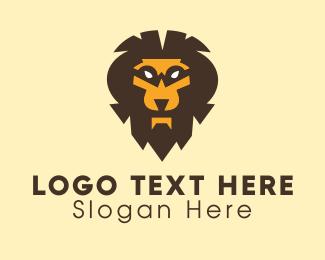 Mascot - Furious Wild Lion logo design
