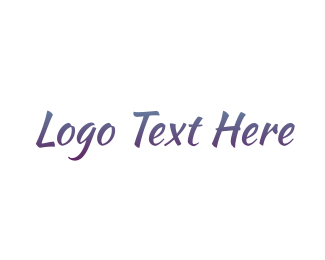 Purple Handwriting Logo