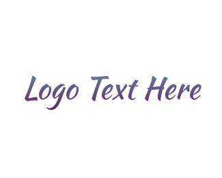 """Purple Handwriting"" by BrandCrowd"