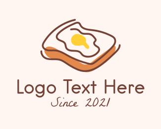 French - French Egg Toast logo design