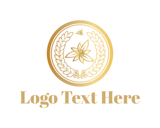 High Tea - Golden Leaves logo design