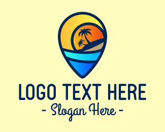 Beach Resort - Island Life Travel logo design