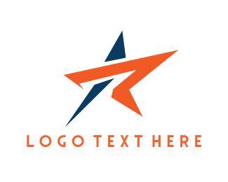 Comet - Star Letter R logo design