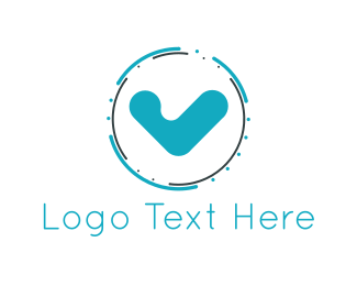 Daily - Blue Check logo design