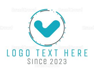 Complete - Blue Check logo design
