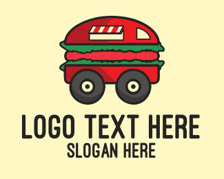Delivery - Burger Truck logo design