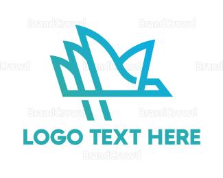 Anaglyph - Opera House Outline  logo design
