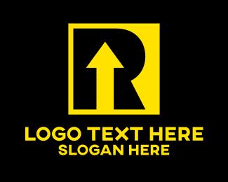 Going Up - Startup Letter R logo design