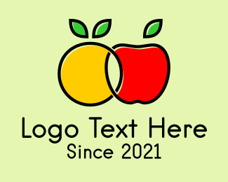 Marketplace - Orange Apple Fruit logo design