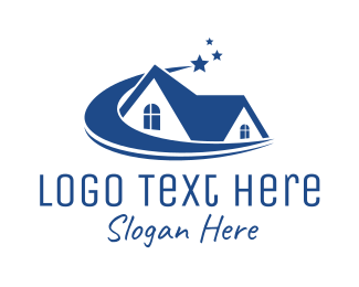 Roofing Service - Shooting Star House logo design