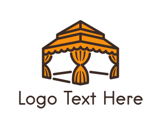 Dubai - Orange Gazebo  logo design