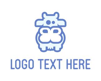 Dairy Farm - Gentle Cow logo design