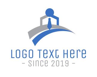 Work - Office Worker logo design