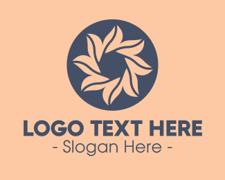 Alphabet - Spa Floral Emblem logo design