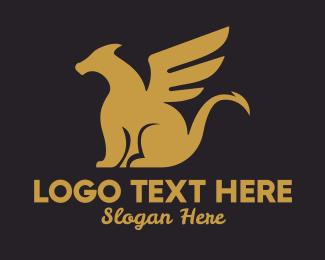 Heraldry - Golden Dragon logo design