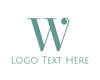 Traditional - Elegant Mint W logo design