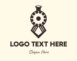 Train - Black Train logo design