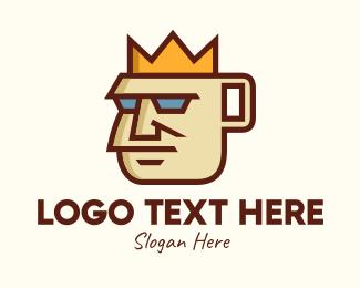 King - Royal Coffee King  logo design